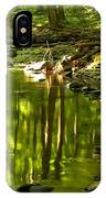 Reflections In Hells Hollow Creek IPhone Case