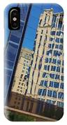 Reflections In The Rolex Bldg. IPhone Case