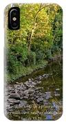 Reflections In The Stream IPhone Case