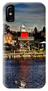 Reflections..two Rivers Pierhead Lighthouse IPhone Case