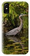 Reflective Great Blue Heron IPhone Case