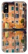Reflective Moment In Venice IPhone Case