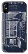 Refrigerator Patent From 1901 - Navy Blue IPhone Case