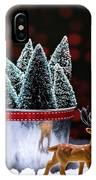 Reindeer With Christmas Trees IPhone Case