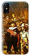 Rembrandt Painting Covered A Wall In Rijksmuseum In Amsterdam-netherlands IPhone Case