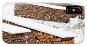 Renewable Heat Source Firewood Stacked In Winter IPhone Case