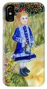Renoir Girl With Watering Can In Watercolor IPhone Case