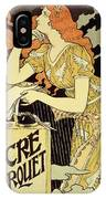 Reproduction Of A Poster Advertising 'marquet Ink' IPhone Case
