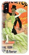 Reproduction Of A Poster Advertising The 1896 Carnival At The Theatre De L'opera IPhone Case