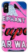 Elephant Super Car Wash Sign Seattle Washington IPhone Case