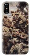 Repulsing A Frontal Attack With Rifle IPhone Case