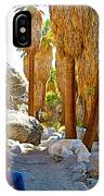 Rest Stop In Andreas Canyon Trail In Indian Canyons-ca IPhone Case