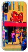 Restaurant Amir Internet Cafe Fast Food Plateau Montreal City Street Scene Art Carole Spandau  IPhone Case