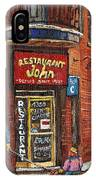 Restaurant John IPhone Case