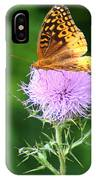 Resting On A Thistle IPhone Case