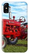 Restored Farmall Tractor Hdr IPhone Case