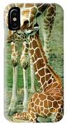 Reticulated Giraffe And Calf IPhone Case
