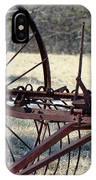 Retired Hay Rake IPhone Case