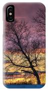 Retired Silo Watching Sunset IPhone Case