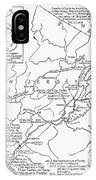 Revolutionary War Map, 1776 IPhone Case