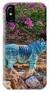 Rhino And Bougainvillea IPhone Case
