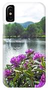 Rhododendron Blossoms And Mountain Pond IPhone Case