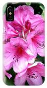 Rhododendron Square With Border IPhone Case