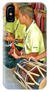 Rhythm Section In Traditional Thai Music Class  At Baan Konn Soong School In Sukhothai-thailand IPhone Case