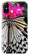 Rice Paper Butterfly On Pink IPhone Case