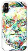 Richard Wagner Watercolor Portrait IPhone Case