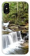 Ricketts Glen Delaware Falls IPhone Case