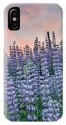 Ridge Of Lupine At Dawn IPhone Case