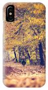 Riding A Bike In Autumn IPhone Case