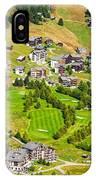 Riederalp Switzerland With Golf Course IPhone Case