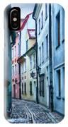 Riga Narrow Street Painting IPhone Case