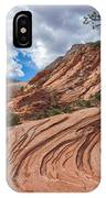 Rippled Rock At Zion National Park IPhone Case