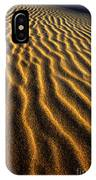 Ripples Oregon Dunes National Recreation Area IPhone Case