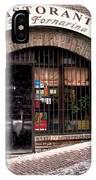 Ristorante La Fornaina. Urbino IPhone Case