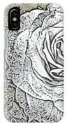 Ritzy Rose With Ink And Taupe Background IPhone Case