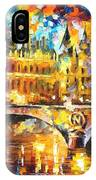 River City - Palette Knife Oil Painting On Canvas By Leonid Afremov IPhone Case