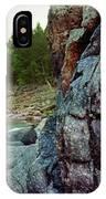 River Flowing Through Rocks, Black IPhone Case