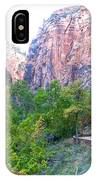 River Walk In Zion Canyon In Zion Np-ut IPhone Case