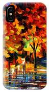 Rivershore Park - Palette Knife Oil Painting On Canvas By Leonid Afremov IPhone Case