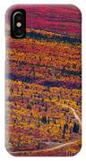 Road Through Fall Colored Tundra IPhone Case