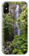 Road To Hana Waterfall - Waimea Valley Maui Hawaii IPhone Case