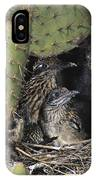 Roadrunners In Nest IPhone Case