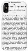 Robert Koch: Paper, 1881 IPhone Case