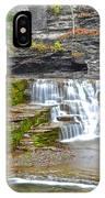 Robert Treman Waterfall IPhone Case