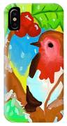 Robin On A Branch IPhone Case