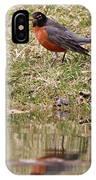 Robin Reflection IPhone Case